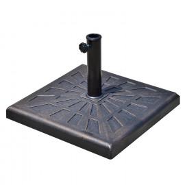 Base de Lestage de Parasol Carrée GARDEN Bronze et Noir