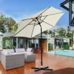 Parasol de jardin inclinable PERLE – crème et noir