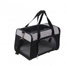 Sac de transport pour chien Noir/Gris