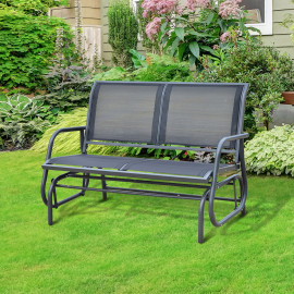 Banc-fauteuil à bascule SONNELLINO noir