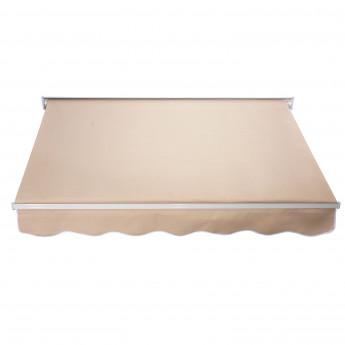 Store Banne Manuel Inclinaison Réglable en Alu et Polyester Imperméable 183 X 70cm TOPSTORE Beige