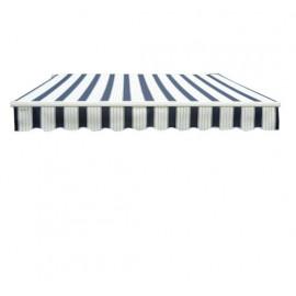 Parasol rectangulaire BOUCLIER bleu et blanc