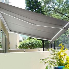 Store Banne de Jardin et Terrasse CHOUCA gris
