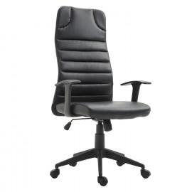 Fauteuil Chaise Pasithée noir similicuir ergonomique