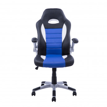 Fauteuil de bureau Argus noir et bleu