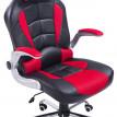 Fauteuil/chaise de bureau Astaro rouge et noir