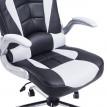 Chaise de bureau RACING Noir et Blanc