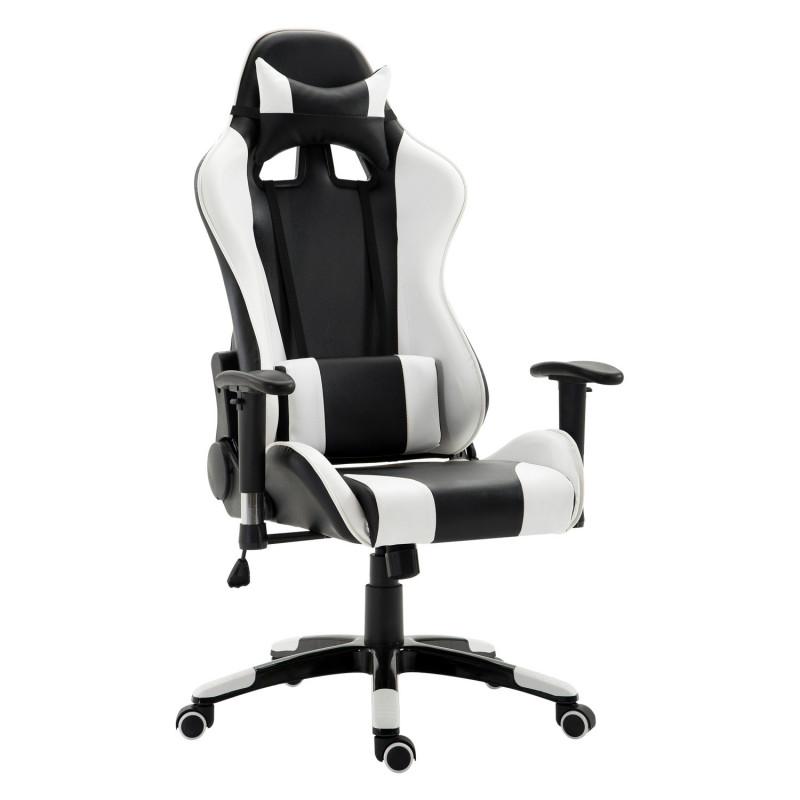 fauteuil de bureau confort pro iii blanc noir. Black Bedroom Furniture Sets. Home Design Ideas
