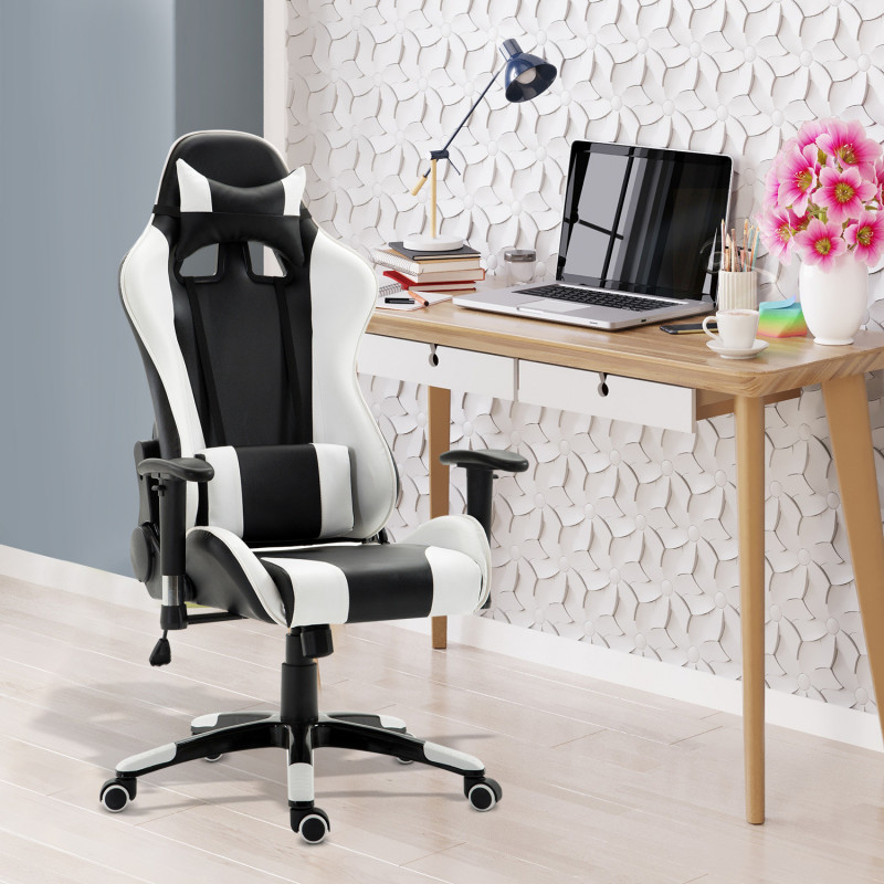 fauteuil de bureau confort pro iii blanc noir. Black Bedroom Furniture Sets. Home Design Ideas