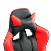 Fauteuil Gammer rouge et noir