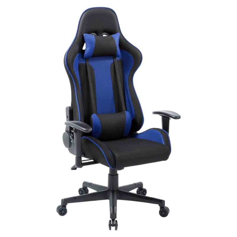 chaise de bureau gaming play bleu. Black Bedroom Furniture Sets. Home Design Ideas