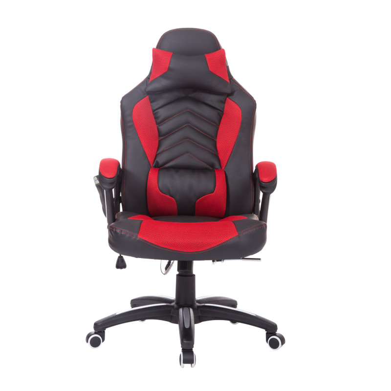Chaise de bureau gamer barkley rouge et noir - Chaise de bureau rouge ...