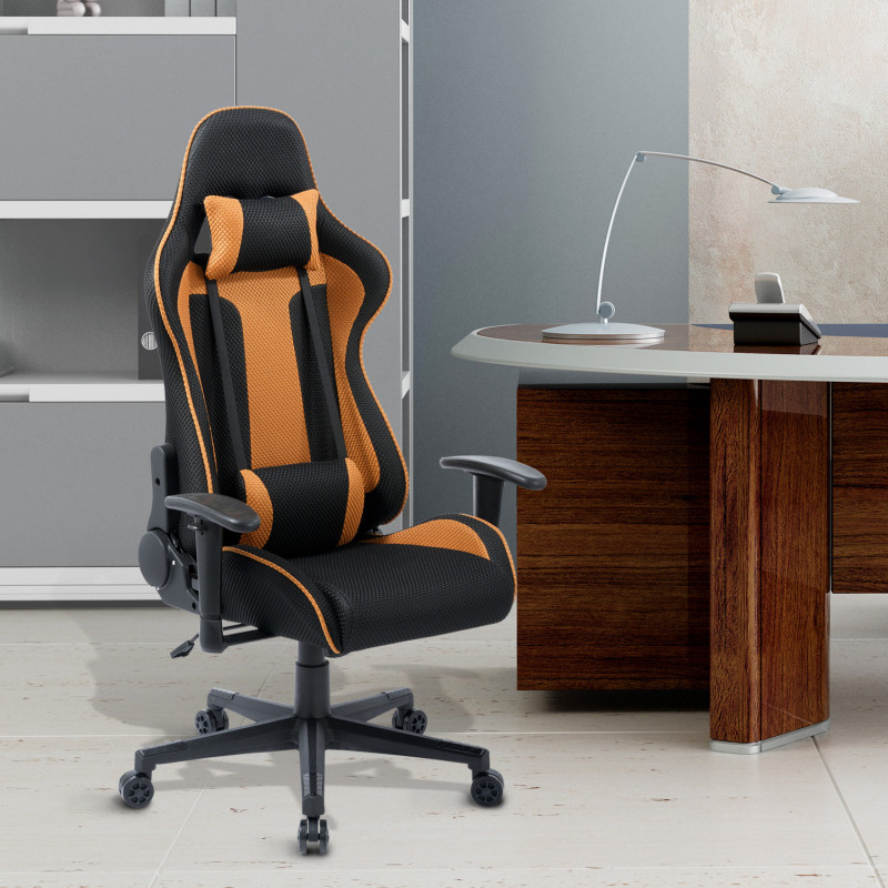 chaise de bureau inclinable cesar orange. Black Bedroom Furniture Sets. Home Design Ideas