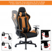 Chaise de bureau inclinable CESAR orange