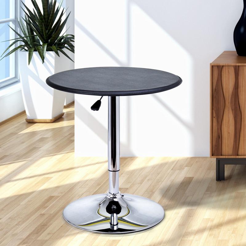 Table de Bar Contemporain Hauteur Réglable LUXURA Noir