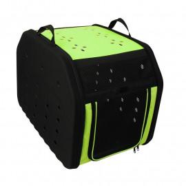 Sac de transport pour animaux - chiens et chats - Vert/Noir