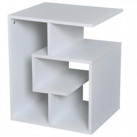 Table Basse Design Moderne 3 Niveaux Blanc