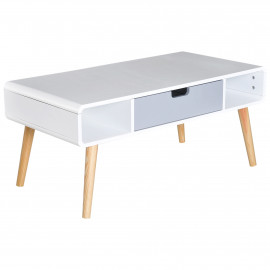 Table Basse Rectangulaire en Bois Massif