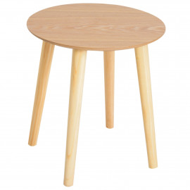 Table Ronde Ø 59 x 50 cm Bois Naturel