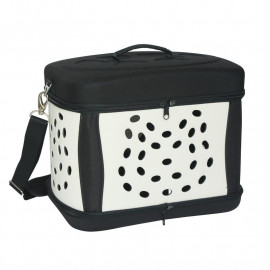 Sac de transport pliable pour animaux Noir/Beige