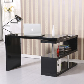Table de bureau contigu noir