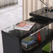 Table de bureau contigu noir