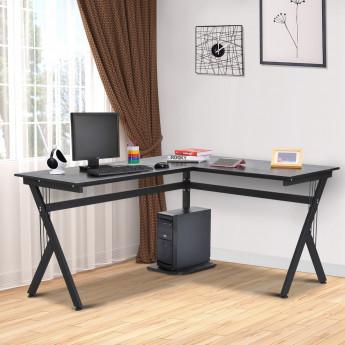 Bureau d'angle design ZEMBRA - Noir