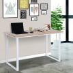 Table ordinateur BUSINESS Chêne et Blanc