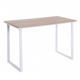 Table ordinateur BUSINESS Chêne et Blanc