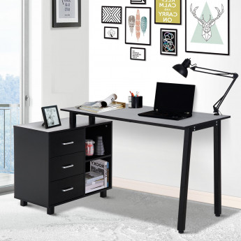 Table de Bureau Yaorha noir