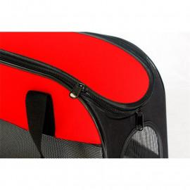 Sac de transport de luxe pour animaux Rouge/Noir