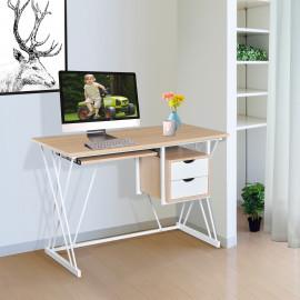 Bureau informatique Kally chêne et blanc