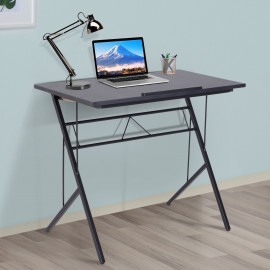 Bureau Table d'Ordinateur Inclinable métal Glasgow Noir