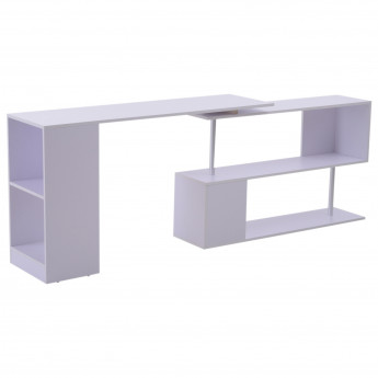 Table Informatique pivotante L Blanc