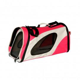 Sacoche/Sac de transport pour chien et chat Beige/Rouge
