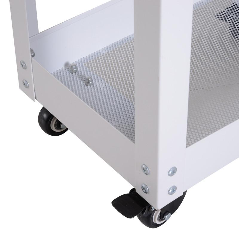 Meuble Acier de rangement à roulette URBAN - Blanc