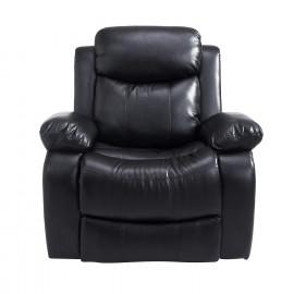 Fauteuil relax massant ELSA cuir noir