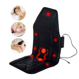 Siège de Massage Relaxant Coussin Massant Chauffant 7 Têtes de Massage Vésuvio Noir