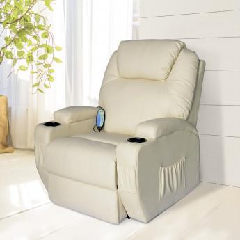 sélection premium 55cf5 1429c Fauteuil relax électrique avec massage intégré – Simone - Crème -  MyCocooning