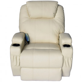 Fauteuil relax électrique avec massage intégré – Simone - Crème