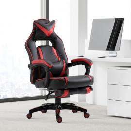 Fauteuil de bureau Ravon noir et rouge