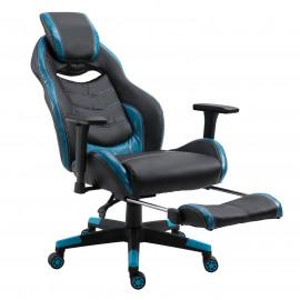 Fauteuil gamer de couleurs bleu-noir