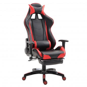Chaise de Bureau Fauteuil Gamer coussin Rouge