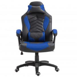 Fauteuil de bureau massant Willow noir et bleu