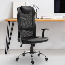 Fauteuil de bureau Tropico ergonomique similicuir Noir