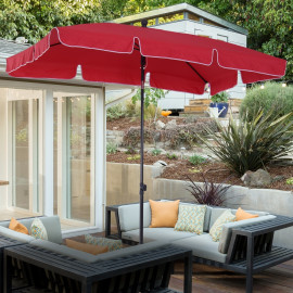 Parasol de plage inclinable – PLAYA – Rouge