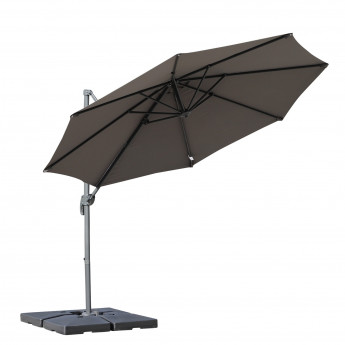 Parasol octogonal inclinable – Gris