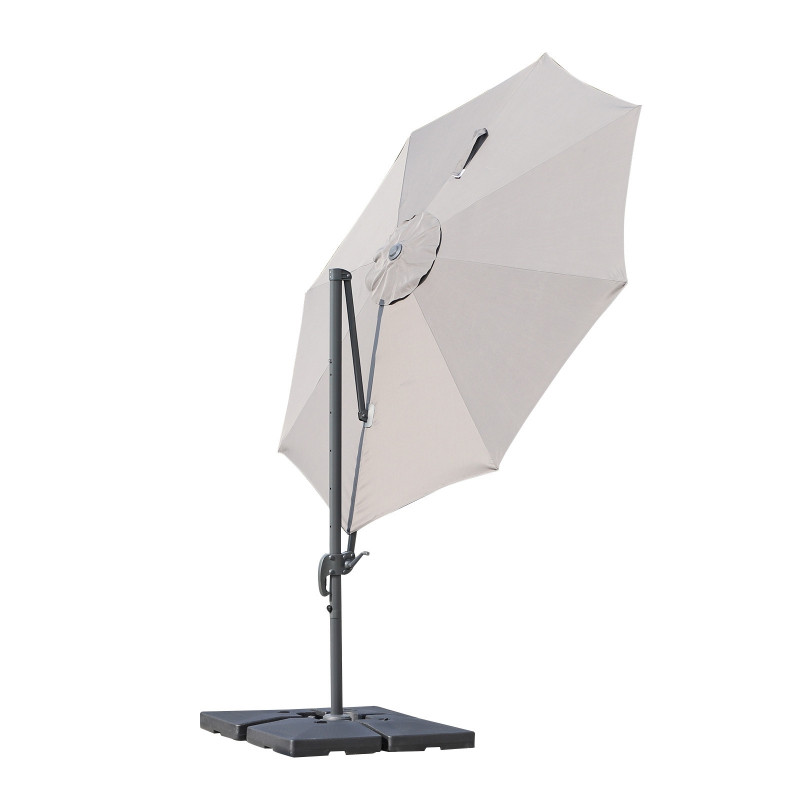 Parasol Octogonal Inclinable Gris
