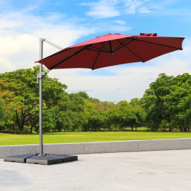 Parasol octogonal inclinable – Rouge