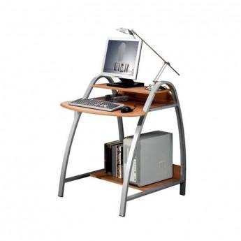 Petit bureau informatique avec chassis en métal - couleur hêtre